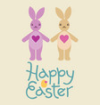 happy easter bunny rabbit character vector image vector image