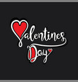 happy valentines day greeting design vector image