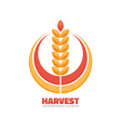 Harvest logo concept sign vector image