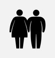 heavy couple icon fat family icon husband and vector image vector image