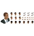 isometric create emotions african american man vector image vector image