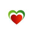 Italian heart vector image vector image