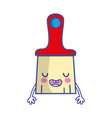 kawaii cute funny brush object vector image
