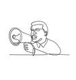 male activist or protester with bullhorn vector image