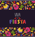 mexican fiesta background traditional decoration vector image vector image