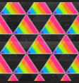 rainbow triangle seamless texture with grunge vector image