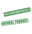 Realistic Natural Product rubber stamp vector image vector image