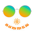 realistic sunglasses shows the pleasure of summer vector image vector image