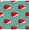 Santas Hat Seamless Pattern vector image vector image