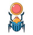 scarab icon cartoon style vector image vector image