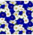 seamless pattern with flowers camomile vector image vector image