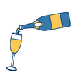 serving champagne on cup vector image vector image