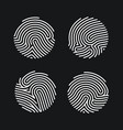 set circle fingerprint icons design for vector image vector image