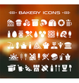 set of bakery icons