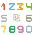 Set of original mathematical figures from paper vector image vector image