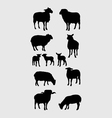Sheep Silhouettes Set vector image
