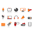 simple media tools icon set vector image vector image