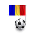 Soccer Balls or Footballs with flag of Romania vector image vector image