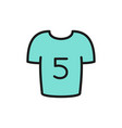 soccer players shirt flat color icon vector image