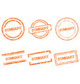 summary stamps vector image vector image
