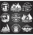 summer camp on chalkboard concept vector image vector image