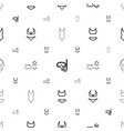 swimwear icons pattern seamless white background vector image vector image