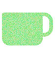 tea cup composition of dots vector image vector image