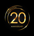 template 20 years anniversary vector image vector image