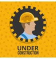 Under construction poster vector image vector image