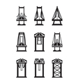 various types bridges vector image vector image