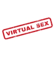 Virtual Sex Rubber Stamp vector image vector image
