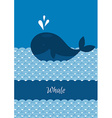 Blue whale with sea vector image