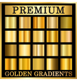 Gold texture square patterns set vector image