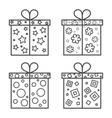 Gift box icon set vector image