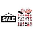 Sale Label Flat Icon with Bonus vector image