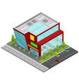 supermarket building isometric view vector image