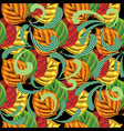 abstract colorful leaves seamless pattern vector image