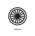 ashoka isolated icon simple element from india