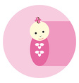 Baby Girl Flat icon vector image vector image