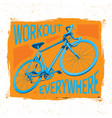 bicycle workout poster vector image