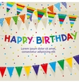 Birthday party poster with multicolored vector image vector image