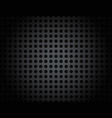 black metal grid pattern background vector image vector image
