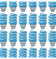 blue save bulb with leaves background vector image vector image