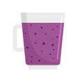 blueberry smoothie icon flat style vector image vector image