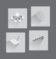 Business Icons in Flat Style vector image