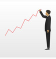 businessman and growing business flat vector image