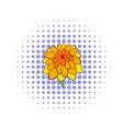 Calendula flower icon comics style vector image