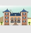 castle with white shutters vector image vector image
