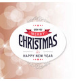 christmas greeting card with light background vector image vector image