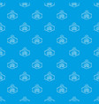 clothes button craft pattern seamless blue vector image vector image